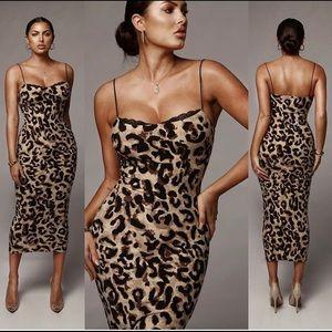 Dresses & Skirts - J Lux Leopard Lace Dress